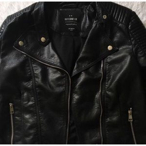Beautiful stylish black leather jacket.